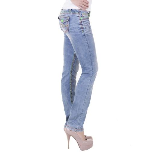 sexy cipo baxx damen designer neon n hte jeans blau w25 26 27 28 29 30 31 32. Black Bedroom Furniture Sets. Home Design Ideas