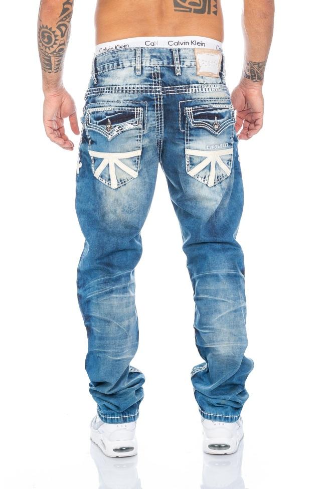 So Gut Wie Neu !!! W32 L32 Cipo & Baxx Herren Naht Jeans Hose 295 Schwarz Gr