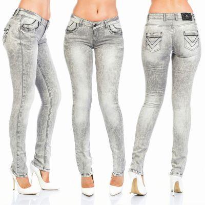 Cipo & Baxx Damen Jeans C46006 grau
