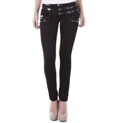 Cipo & Baxx Damen Jeans CBW-313 schwarz