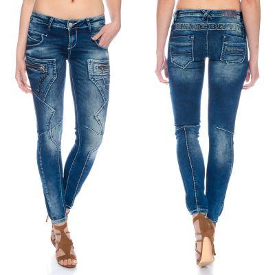 Cipo & Baxx Damen Jeans WD200B blau