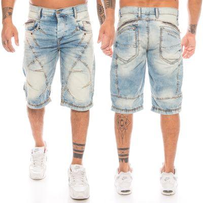 Cipo & Baxx Herren Shorts C-090 hellblau