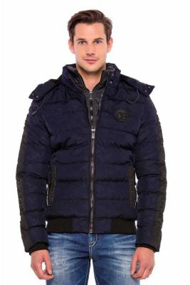 Cipo & Baxx Herren Winter Jacke CM142 navy blau