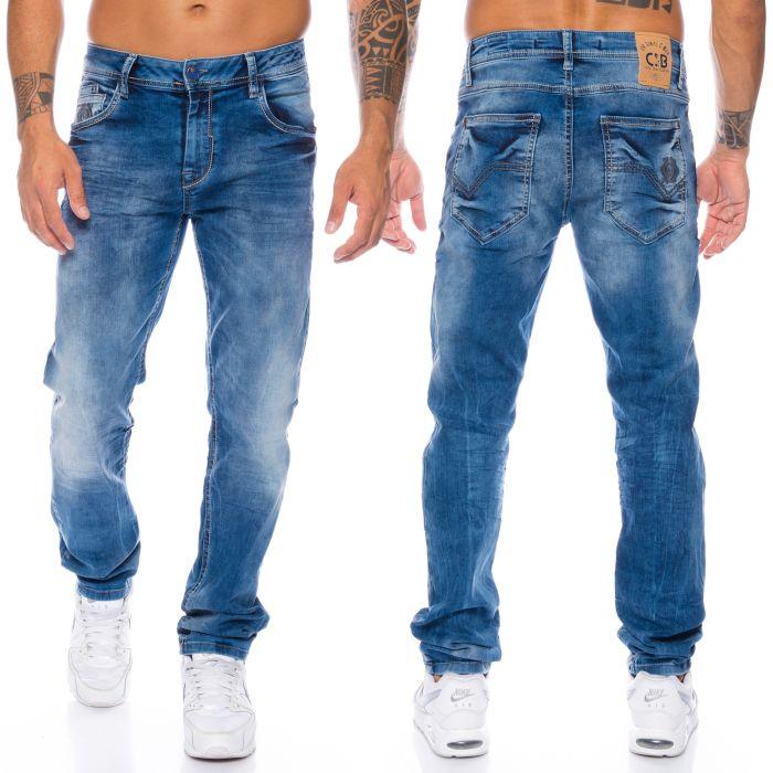 Cd319 Baxx Jeans Blau Cipoamp; Fit Slim Nähte 8nmNw0