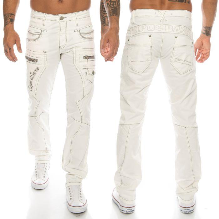 Cipo & Baxx Herren Jeans CD135 Weiß