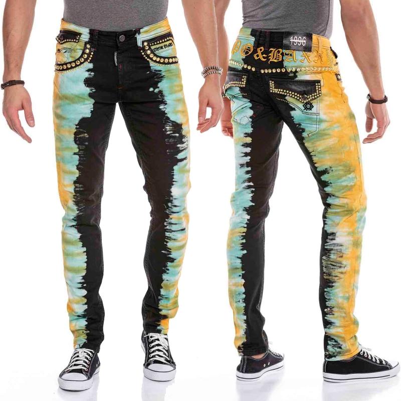 Cipo & Baxx Herren Jeans CD664 gelb