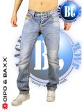 Cipo & Baxx Jeans Neon BJ-12952 blau