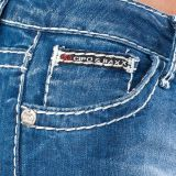Cipo & Baxx Damen Jeans CBW-232 blau