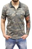 Cipo & Baxx Polo T-Shirt BJ-135345 camouflage