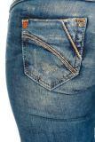 Cipo & Baxx Damen Jeans CBW-347 blau