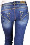 Cipo & Baxx Damen Jeans CBW-587 blau