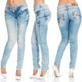 Cipo & Baxx Damen Jeans CBW-347A blau