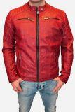 Redbridge Biker Kunstleder Jacke M6028 rot