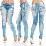 Cipo & Baxx Damen Jeans WD216 blau