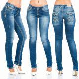 Cipo & Baxx Damen Jeans WD201 blau