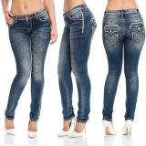 Cipo & Baxx Damen Jeans WD240 blau