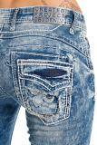 Cipo & Baxx Damen Jeans WD241 blau
