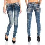 Cipo & Baxx Damen Jeans WD222 blau