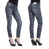 Cipo & Baxx Damen Jeans WD270 camouflage blau