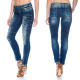 Cipo & Baxx Damen Jeans WD250 blau