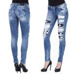 Cipo & Baxx Damen Jeans WD269 blau