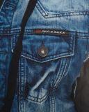 Cipo & Baxx Übergangs Kapuzen Jacke C-1290 blau