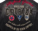 Cipo & Baxx Übergangs Kapuzen Jacke CJ185 schwarz