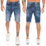 Cipo & Baxx Herren Capri Shorts CK184 blau