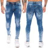 Adrexx Herren Jeans Hose Blau