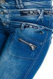 Cipo & Baxx Damen Jeans CBW-282 blau