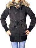 Cipo & Baxx Damen Winter Parka / Jacke BJ-116100 schwarz